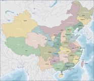 Map of China. China is a unitary sovereign state in East Asia and the most populous country vector illustration