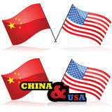 China and the United States Stock Image