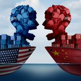 China United States Tariff War stock illustration