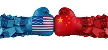 China United States Trade Challenge stock illustration