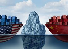 China United States Trade Danger stock images