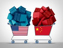 China United States Trade Negotiations stock illustration