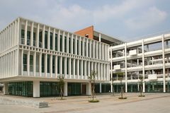 China university. Chinese university building in Guangzhou, China royalty free stock image