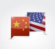 China and us communication illustration Royalty Free Stock Image