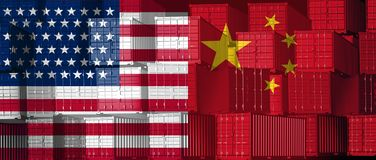 China US Trade royalty free illustration