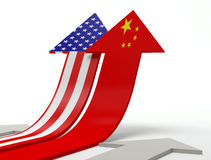 China and USA Stock Images