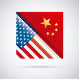 China and usa design Stock Photography