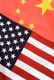 China and USA Flag Stock Image