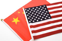 China and USA Flag. For background Royalty Free Stock Photo