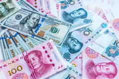 China and USA money. Stock Photography