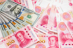 China and USA money. Stock Photo