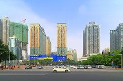 China van de binnenstad: Guangzhou tianhe gebied Stock Afbeeldingen
