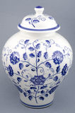China Vase. Old china vase over grey background Royalty Free Stock Images