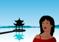 China. Vector Illustration Of Travel to Asia Royalty Free Stock Photos