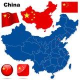 China vector set. Stock Photos