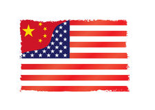 China versus U.S.A. Royalty Free Stock Photography