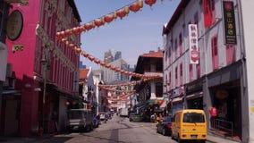 China-Viertel von Singapur stock footage