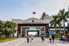 China-Vietnam border port Royalty Free Stock Photos
