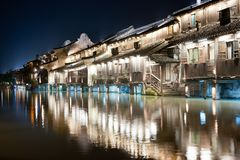 China village building night scene Royalty Free Stock Photography