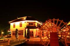 China village night. Night china village  in  suphanburi province, thailand Royalty Free Stock Photos