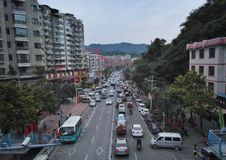 China villege city street view of guiyang Stock Photo