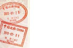 China Visa Stock Photo