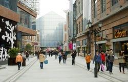 China: voet straat Royalty-vrije Stock Afbeeldingen