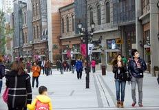 China: voet straat Stock Foto's