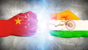 China vs India Royalty Free Stock Image