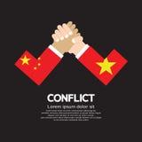 China VS Vietnam Arm-Wrestle Royalty Free Stock Photo