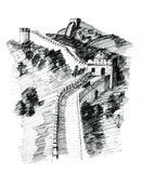 China wall royalty free stock photography