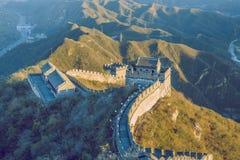 China wall in Pekin. 2016 Royalty Free Stock Photos