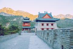China wall in Pekin. 2016 Royalty Free Stock Photo