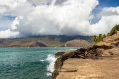 China Walls. A view of Hawaii Kai and the Koolau Mountain Range from China Walls on the south shore of Oahu, Hawaii Stock Photo