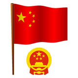 China wavy flag Stock Images