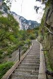 China:the way to top of mountain hua stock image