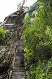 China:the way to top of mountain hua stock photos
