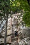 China:the way to top of mountain hua royalty free stock photos