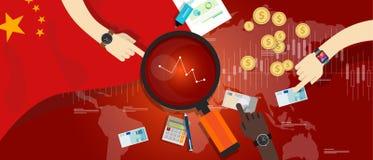 China-Wirtschaftsfinanzverlangsamungsabbruch wirtschaftlich Lizenzfreie Stockfotos