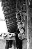 China wood carving. North China wood carving detail on the side of a house Stock Images