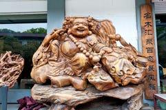 China woodcarving figure of Buddha Royalty Free Stock Photography