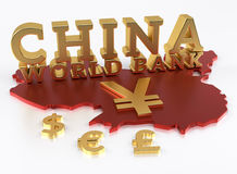 China World Bank - AIIB - The Asian Infrastructure Investment Ba. Nk - 3D Render Royalty Free Stock Photography