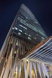 China-World Trade Center-Turm 3 nachts, Peking, China Lizenzfreie Stockbilder