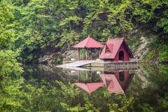 China, the Wudang monastery, lake Royalty Free Stock Images