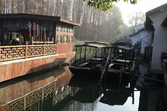 China ,wuzhen Water Village, boat Royalty Free Stock Photo