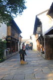China ,wuzhen Water Village,people cleaning Royalty Free Stock Photos