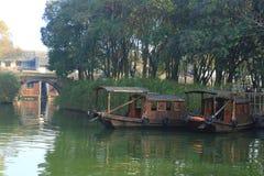 China ,wuzhen Water Village, boat Stock Image