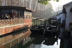 China ,wuzhen Water Village, boat Royalty Free Stock Photo