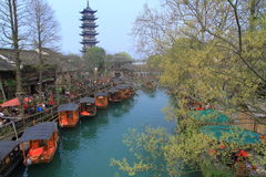 China ,wuzhen Water Village in spring Stock Photography