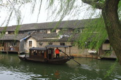 China ,wuzhen Water Village in spring Royalty Free Stock Photo